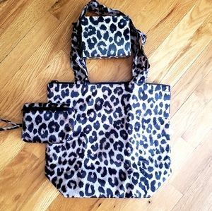 Insulated folding tote bag